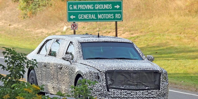 The new presidential limousine was photographed on public roads near GM's proving grounds in Michigan last fall.