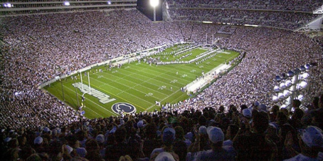 Beaver Stadium is home of the Penn State football team, the Nittany Lions.
