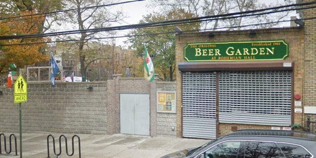 The server at the Queens beer garden was reportedly fired on the spot.