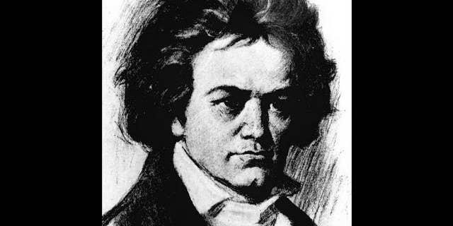 Sketch of Ludwig Van Beethoven, German composer