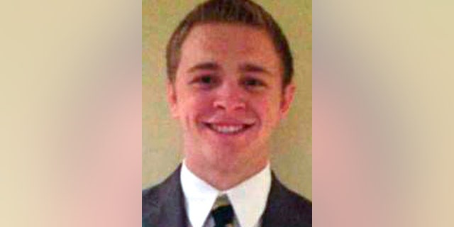 This undated photo provided by The Church of Jesus Christ of Latter-Day Saints shows Mormon missionary Mason Wells, 19, of Sandy, Utah, who was injured in Tuesday's explosion at the Brussels airport.