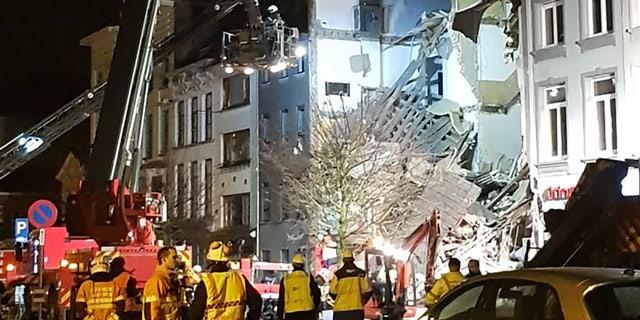 The blast in Antwerp left at least 14 injured.