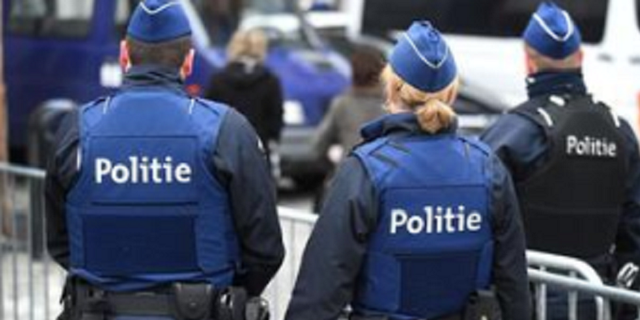 Authorities in Belgium were responding to a situation in which a suspect attacked a police officer with a knife.