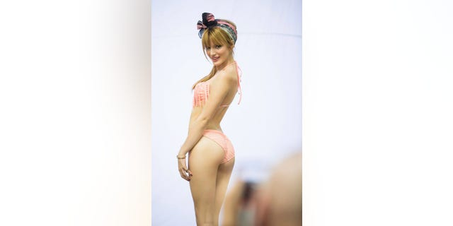 Bella Thorne poses in an ad for Candie's
