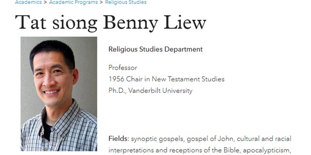 """College of the Holy Cross professor, Dr. Tat-siong Benny Liew, claims Jesus was a """"drag king"""" who had """"queer desires."""""""