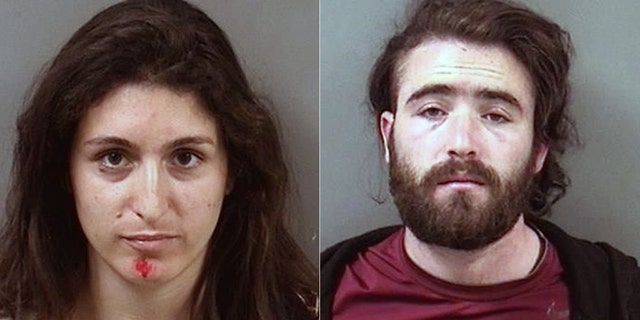 Arrested protesters Maria Lewis and Thomas Parker.
