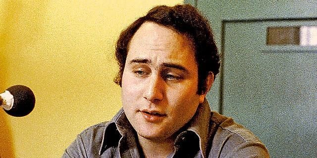 "Feb. 22, 1979: David Berkowitz, known as ""Son of Sam,"" is shown during an interview at Attica Prison in New York."