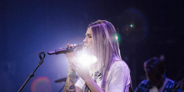 """Worship leader Bethany Wohrle sings her new song, """"Living Hope"""" at Bethel's """"Heaven Come Conference"""" in Dallas, Texas."""