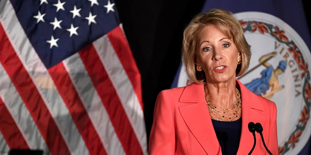 Education Secretary Betsy DeVos.
