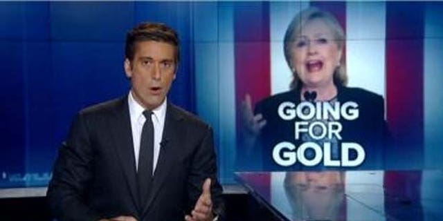 """ABC """"World News Tonight"""" anchor David Muir helped Clinton medal in Olympic appropriation."""