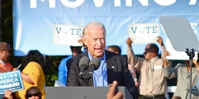 Vice President Biden at Moving America Forward Rally in Philadelphia, PA on Oct 10, 2010 (Fox Photo)