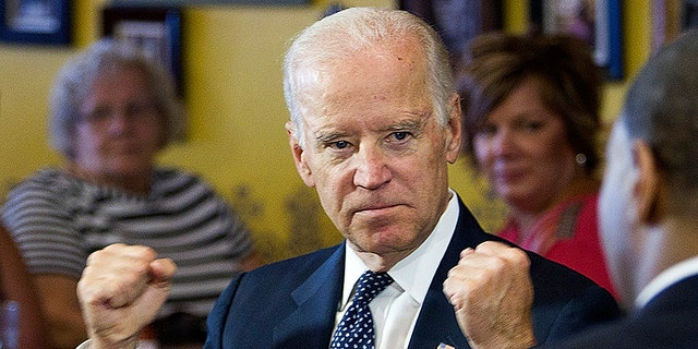 """""""I wish we were in high school I could take him behind the gym — that's what I wish,"""" Biden said in Oct. 2016."""
