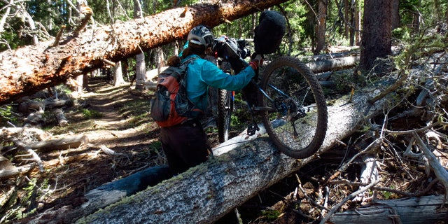 """""""You may end up carrying your bike more than you ride it,"""" Scott Morris warns of bikepacking."""