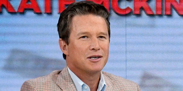 """In this Sept. 26, 2016 photo released by NBC, co-host Billy Bush appears on the """"Today"""" show in New York. Bush says he's """"embarrassed and ashamed"""" by a 2005 conversation he had with Donald Trump in which Trump made lewd comments about women. Bush, then a host of the entertainment news show """"Access Hollywood,"""" was chatting with Trump as the businessman waited to make a cameo appearance on a soap opera. In a statement Friday, Oct. 7, Bush says he was younger and less mature when the incident occurred, adding that he """"acted foolishly in playing along."""" (Peter Kramer/NBC via AP)"""