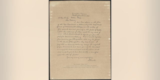 """A copy of the """"Bixby letter"""" - (The Alfred Whital Stern Collection of Lincolniana, Rare Book And Special Collections Division, Library of Congress)"""