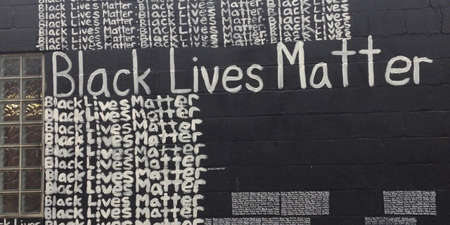 Friday, Sept. 18, 2015: A Black Lives Matter mural behind the Namdi Center for Contemporary Art, in Detroit, Mich.