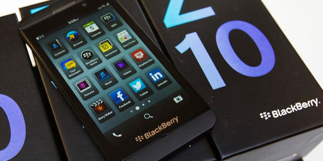 February 5, 2013: A view shows a Blackberry Z10 device at a Rogers store in Toronto.