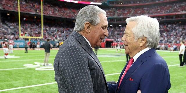 Arthur Blank told ESPN he and Robert Kraft are good friends.