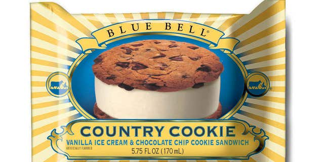 This undated photo provided by Blue Bell shows Blue Bell Chocolate Chip Country Cookies.