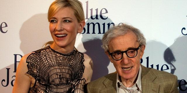 """Blanchett and Allen at """"Blue Jasmine"""" premiere."""