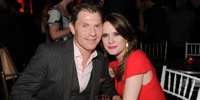 """Jan. 9, 2013: Chef Bobby Flay and girlfriend actress Stephanie March attend the HBO """"Girls"""" premiere after party at Capitale in New York."""
