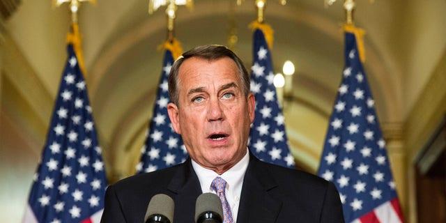 Nov. 21, 2014: peaker of the House John Boehner (R-OH) denounces the executive order on immigratio