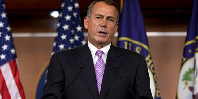 Dec. 22, 2011: Speaker of the House John Boehner of Ohio speaks at a news conference on Capitol Hill.