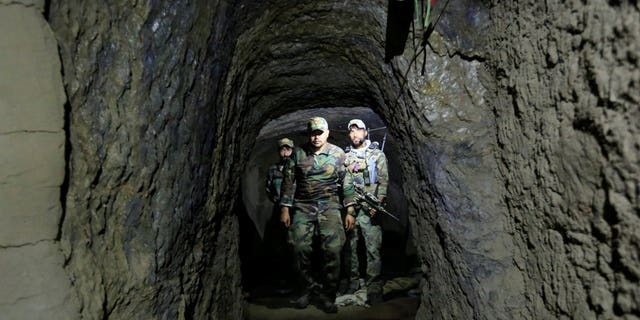 ISIS tunnels in the area where the U.S. dropped its massive bomb.