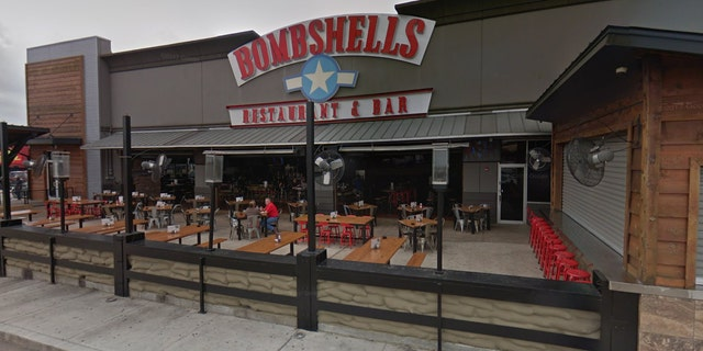 The brawl went down in the front patio area of a Bombshells location in South Houston.