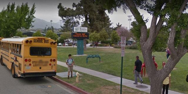 Outside Bonita High School in La Verne, Calif.