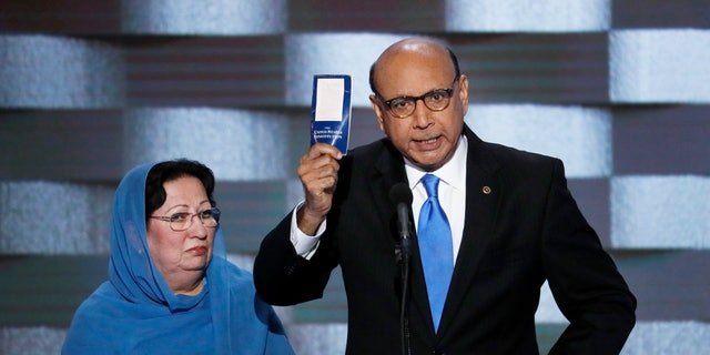 Khizr and Ghazala Khan spoke out against President Trump at the 2016 Democratic National Convention.