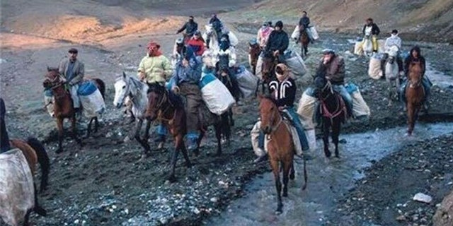 Hundreds of men, on foot and on horseback, haul the contraband booze into Iran, risking their lives in the process.