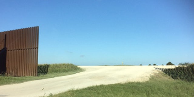 Shown here is one of the gaps in the border barrier in Cameron County near Brownsville, Texas.
