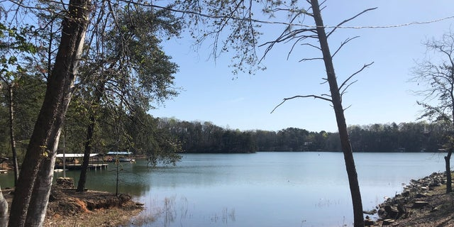 The fishermen fell into Lake Lanier in northern Georgia.?