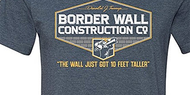Photo of pro-Trump border wall T-shirt that sparked controversy at an Oregon high school.