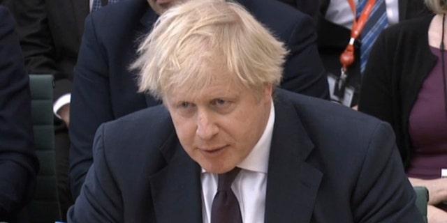 Britain's Foreign Secretary Boris Johnson is seen in Portcullis House, London, March 21, 2018.