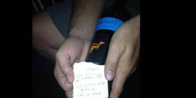 Message in bottle written in 2012. (Ben Johnson)