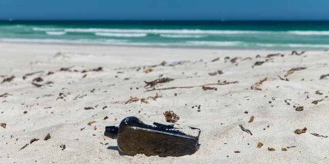 The oldest message in a bottle discovered was discovered on a beach in Western Australia. (Image copyright KymIllman.com)