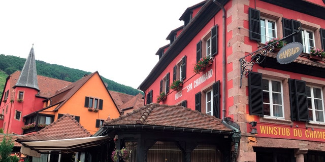 Le Chambard hotel where TV chef Anthony Bourdain was found dead on Friday morning in Kaysersberg, France.