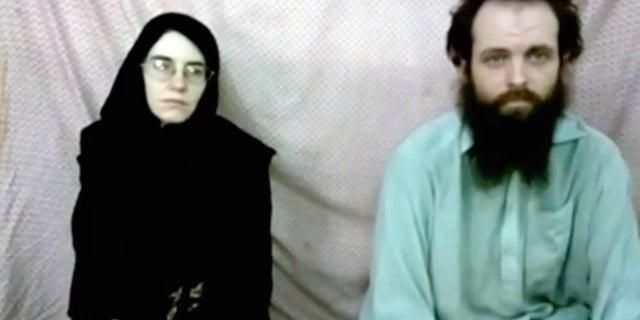 Screenshot of video featuring Caitlan Coleman and Joshua Boyle