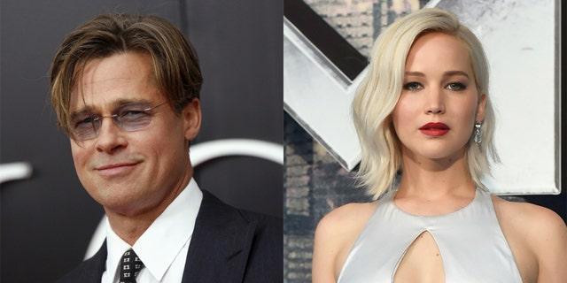 Brad Pitt, left, and Jennifer Lawrence both avoid using social media.