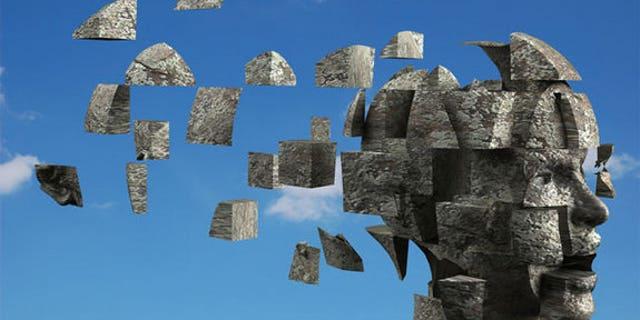 Conceptual brain image; psychiatric disorders.