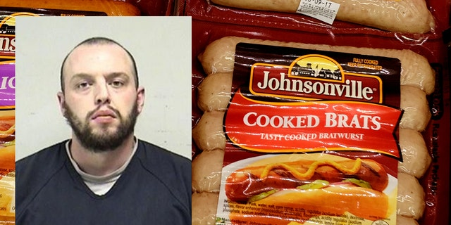Jonathan Lane was arrested for allegedly tampering with the sausage links at the Johnsonville Sausage plant in Wisconsin.