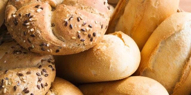 Fresh bread rolls for healthy breakfast