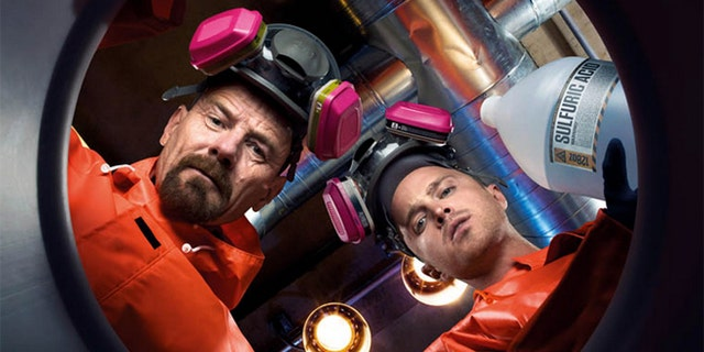 Bryan Cranston and Aaron Paul star in AMC's Breaking Bad.
