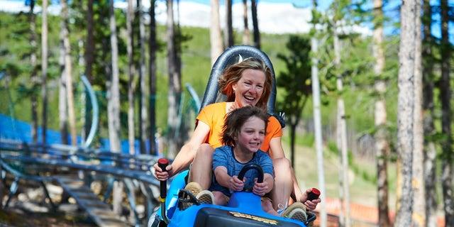 Gold Runner Coaster at Breckenridge mountain, Colorado.