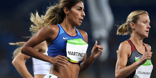 RIO DE JANEIRO, BRAZIL - AUGUST 12:  Brenda Martinez of the United States competes in round one of the Women's 1500 metres on Day 7 of the Rio 2016 Olympic Games at the Olympic Stadium on August 12, 2016 in Rio de Janeiro, Brazil.  (Photo by Shaun Botterill/Getty Images)