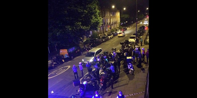 The scene of an acid attack in London on July 13.