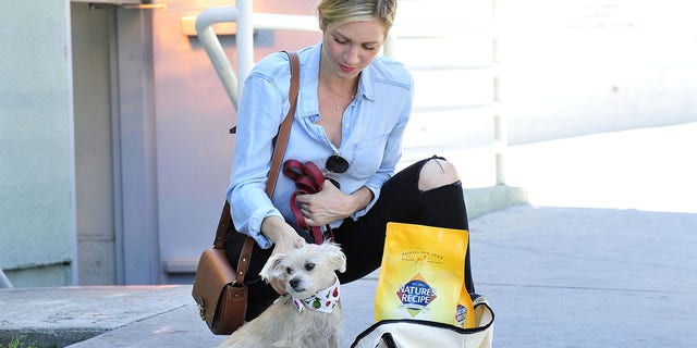 After taking a summer road trip with her dog Billie, actress Brittany Snow stocks up on Nature's Recipe® premium dog food.