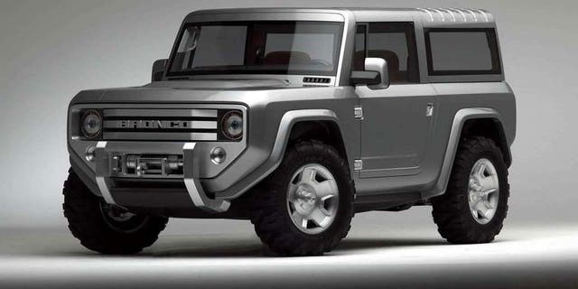The 2004 Ford Bronco Concept may give an idea of what the new one looks like.